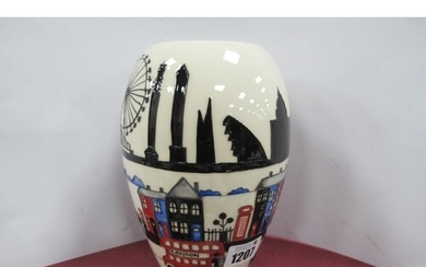 A Moorcroft Pottery Vase, painted in the 'Londinium' pattern...