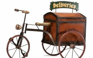 A Painted Wood and Iron Fast and Reliable Deliveries