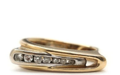 NOT SOLD. A diamond ring set with seven brilliant-cut diamonds totalling app. 0.21 ct., mounted in 14k gold and white gold. – Bruun Rasmussen Auctioneers of Fine Art