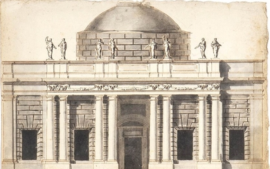 ANONYMOUS, LATE 18th CENTURY Architectural study for a neo-palladian building...