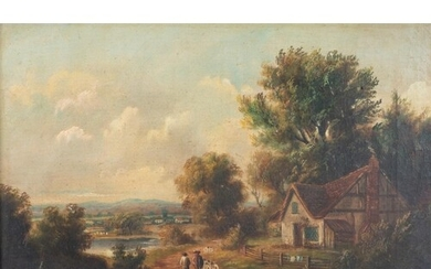 Attributed to John Gibson R.A. (England 1790 - 1866): FARMST...