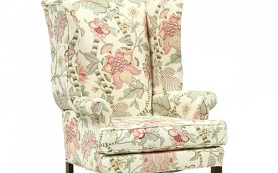 Chippendale Style Upholstered Easy Chair