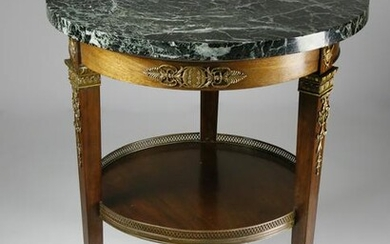 French Empire Style Ormolu Mounted Marble Top Gueridon
