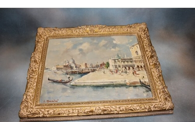 """L. Mazzini- """"Looking towards the Grand Canal, Venice"""", inscr..."""