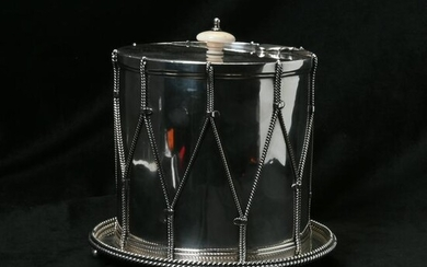 Mappin Brothers Drum Form Biscuit Barrel.