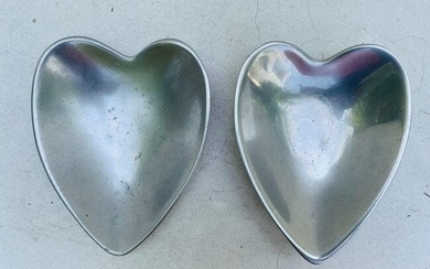 NAMBE Model #118B-Heart Shaped Silver Sweetheart Dishes