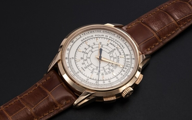 PATEK PHILIPPE, REF. 5975R , A LIMITED EDITION GOLD MULTI-SCALE CHRONOGRAPH MADE TO COMMEMORATE THE 175TH ANNIVERSARY OF THE BRAND