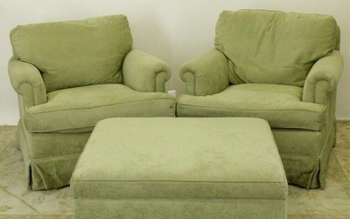 Pair of Brunshwig and Fils Lounge Chairs