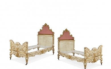 Pair of single beds Piedmont, 18th Century and later