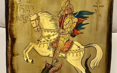 Peter Stephan - Old Icon / Image of God - St. George the Dragon Slayer (1) - Wood