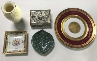 Porcelain & Pottery Collection Including Tiffany