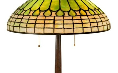 Tiffany Studios, New York Jewel and Feather Table Lamp
