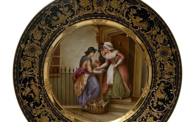 Vienna Porcelain Cabinet Plate by Wagner.