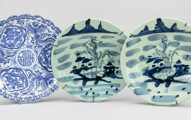 3 plates, China, 19th c., all