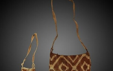 A Chamacoco Knotted Bag and a Pouch