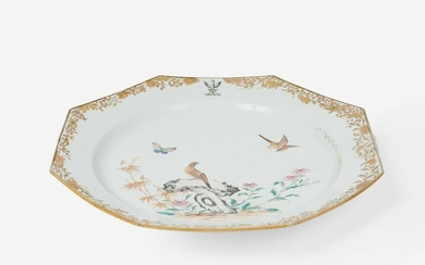 A Chinese Export Hand-painted Dish 19th Century