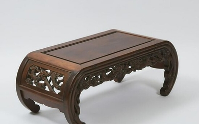 A Chinese Rosewood Low Table, Kang, Early 20th Century