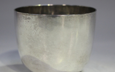 A George I Britannia standard silver tumbler cup, London 1719 (maker's mark rubbed), weight 111