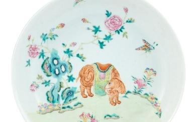 A Rare Chinese Famille Rose Porcelain Dish