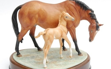 A boxed limited edition Royal Worcester equestrian study mod...