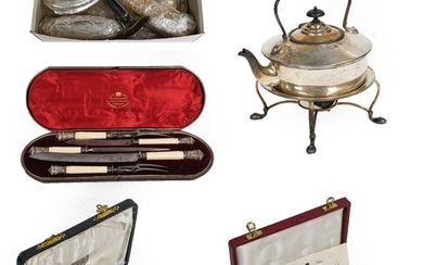 A collection of silver and silver plate, the silver...
