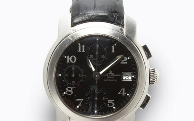A group of stainless steel wristwatches, Baume &