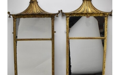 A pair of early 20th century Chinese Chippendale style gilt ...