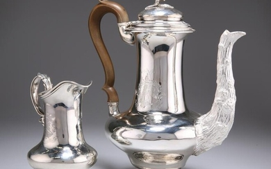 A GEORGE IV SILVER TWO-PIECE COFFEE SERVICE, by