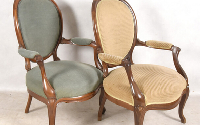 ARMCHAIRS, a pair, rococo style, 20th century.