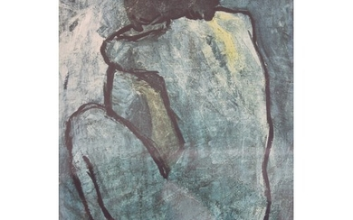 After Pablo Picasso - blue period nude, chromolithograph, 41...