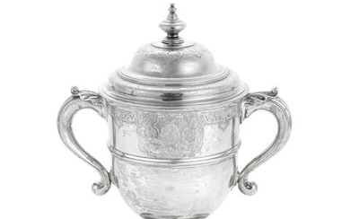An early 18th century silver two-handled cup and cover Edmund Pearce London, no date letter circa 1720