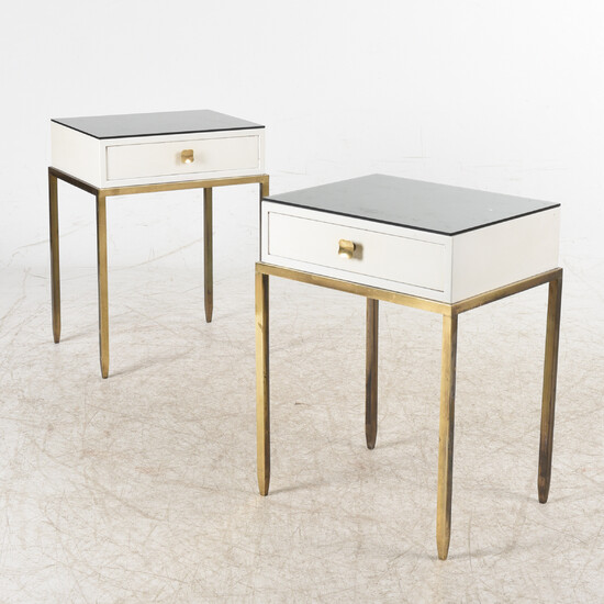 BED TABLE, a pair, second half of the 20th century.