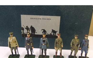 Boxed frontline figures - 6 WW1 generals, complete with pape...