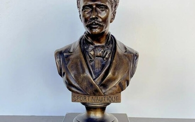 Bronze Bust on marble base