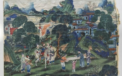 Chinese Export Painting, 19th Century