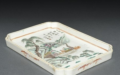 Chinese famille rose tray