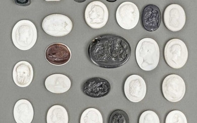 Grand Tour Intaglios. A collection of late 18th / early 19th century intaglios