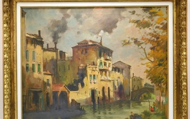 Impressionist Venetian Townscape Painting