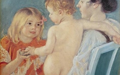 Mary Cassatt, Sara Handing a Toy to the Baby, Poster on