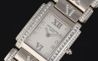 Patek Philippe Twenty~4 White Gold and Diamond Bracelet