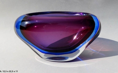 SEGUSO Centerpiece Blue and violet submerged glass vase Glass, 12,5...