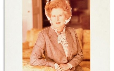 THATCHER, MARGARET. Color Photograph Signed and