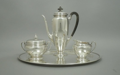 Tiffany & Co. Sterling Silver 3-Piece Tea Set and Tray.