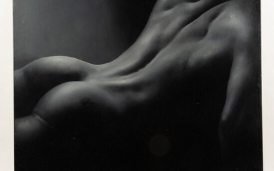Unknown artist, painting, male nude from the back, 2005.