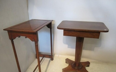 Victorian rosewood and mahogany occasional tables.