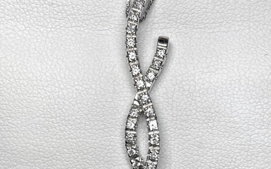 18 kt. White gold - Necklace, Necklace with pendant - 0.56 ct Diamonds - Diamond