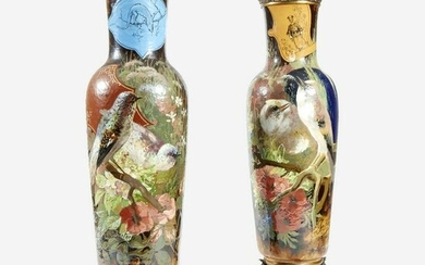 A Pair of Large French 'Japonisme' Faience and Bronze