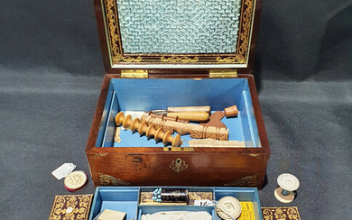 A VICTORIAN SEWING BOX