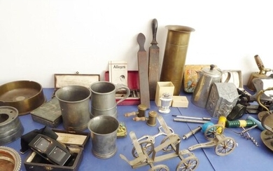 A good and interesting selection of mostly metalwork and met...