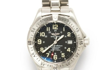 A stainless steel wristwatch, Super Ocean Automatic